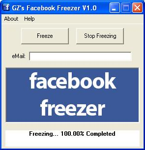 Gz Facebook Freezer screenshot